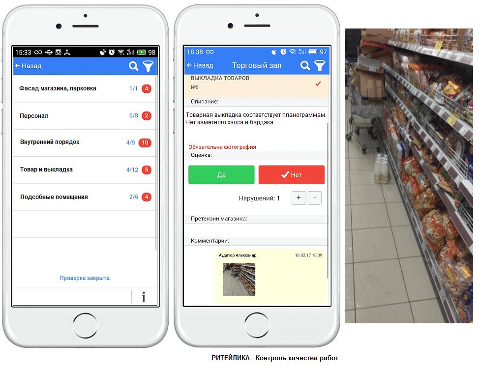 Электронный чек-лист на мобильном устройстве