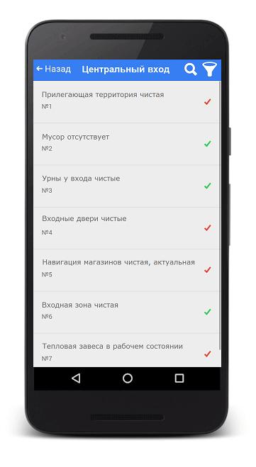Ритейлика. Мобильный чек-лист администратора.
